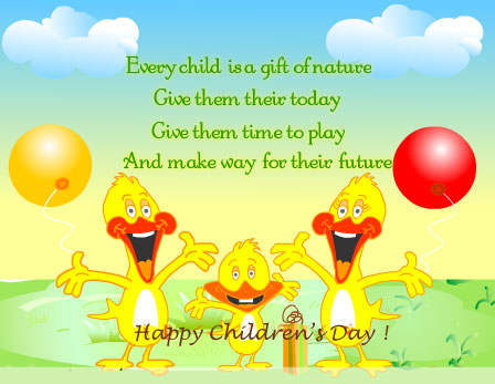 Have A Happy Children's Day Wishes Message Image