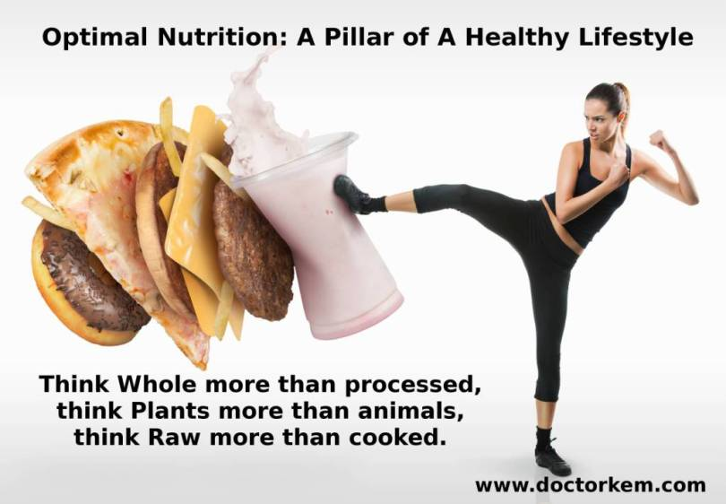 Health Quotes optimal nutrition a pillar of a health lifestyle