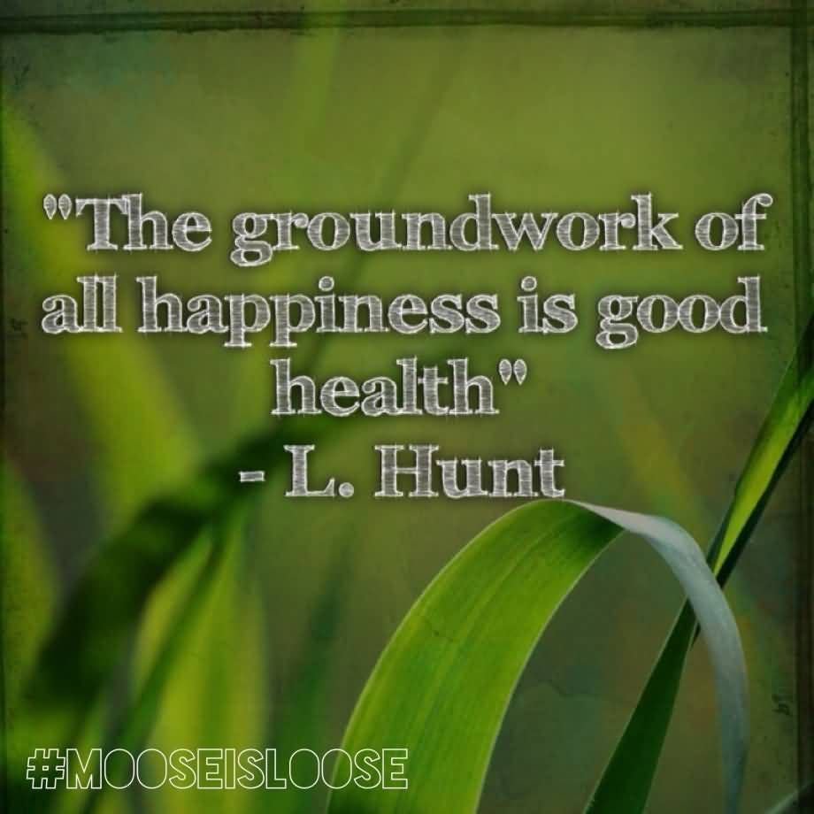 Good Health Quotes Health Quotes The Groundwork Of All Happiness Is Good Health