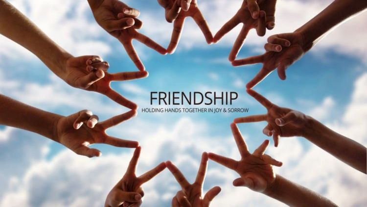 Holding Hands Together Happy Friendship Day Wishes Image
