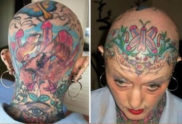 Horrible Worst Extreme Tattoo Design For Boys
