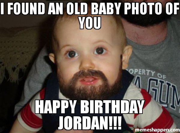 I Found An Old Baby Photo Of Happy Birthday Jordan Meme Graphic