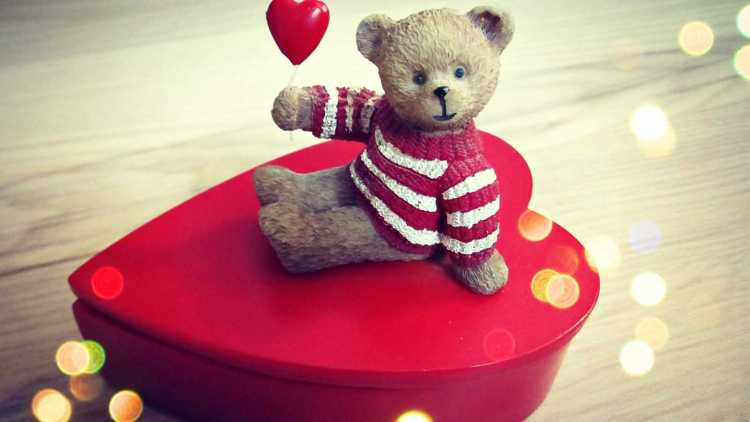I Love You Teddy Day Wishes Wallpaper