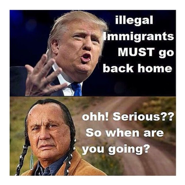 Illegal Immigrants Must Go Back Home Ohh! Donald Trump Meme