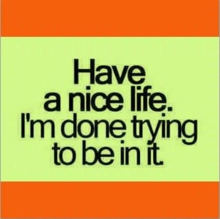 I'm Done Quotes Have a nice life im done trying to be in it