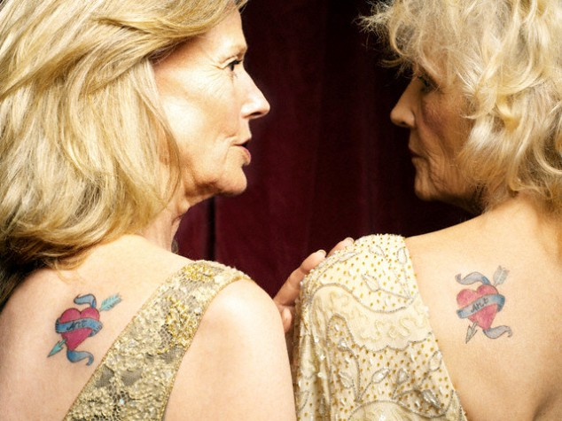 Incredible Friendship Tattoo For Old Age Ladies
