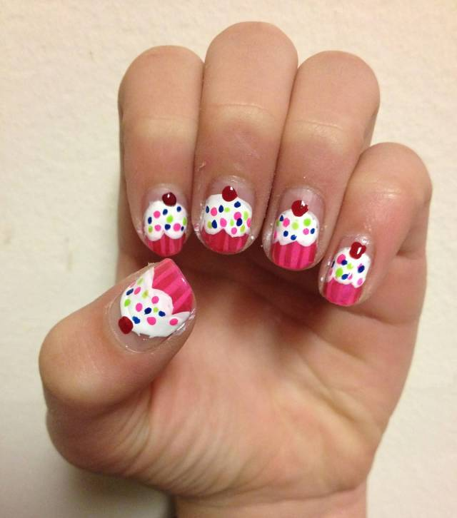 Incredible Ice Cream Birthday Nail Art