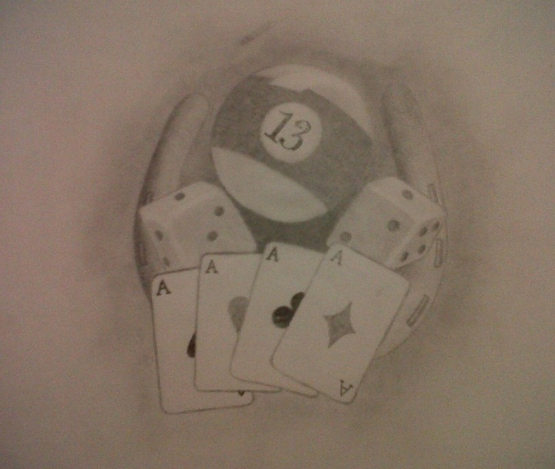 Inspirational Dice n Gambling Cards Tattoo Design For Boys