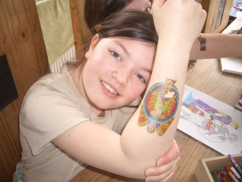Inspirational Teenage Girl Has Stained Glass Tattoo On Arm