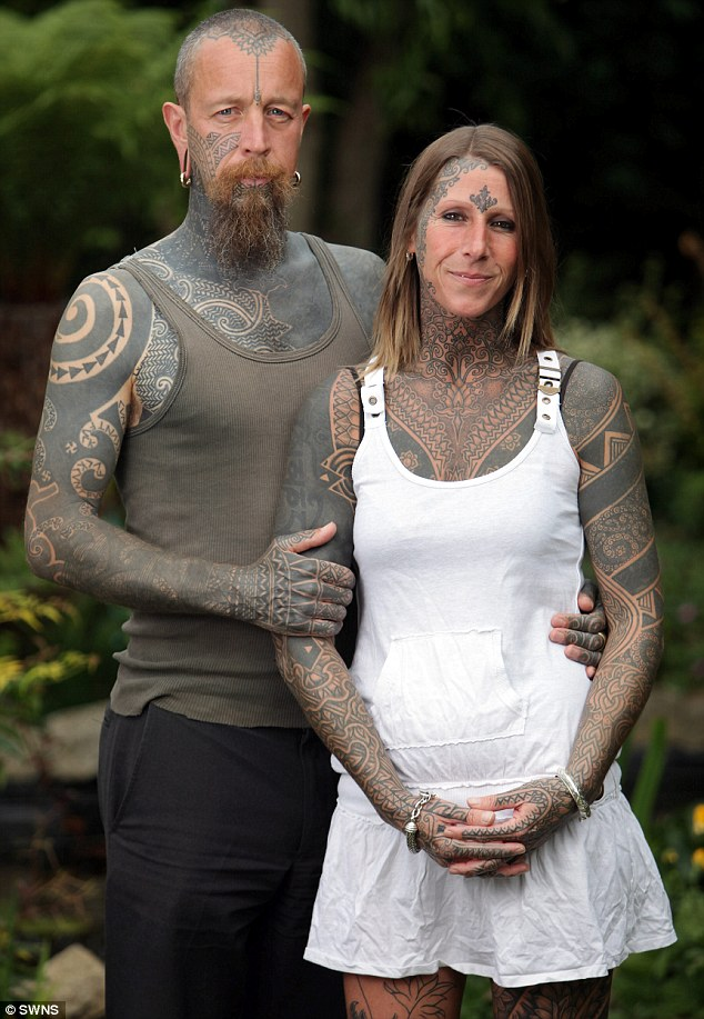 Inspiring Couple With Full Body Tattoo Design For Couple