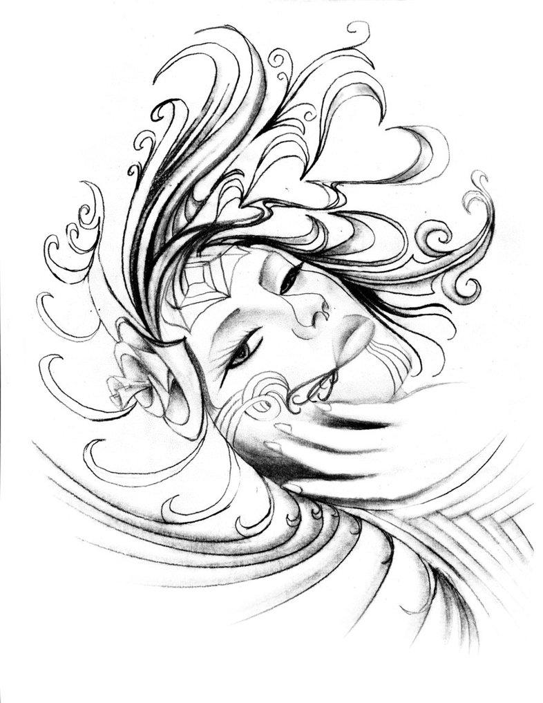 Inspiring Day Of The Dead Girl Tattoo Design For Girls