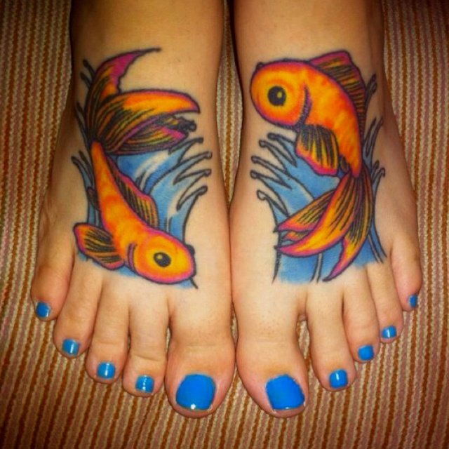 Inspiring Fish Tattoo Designs For Feet For Girls Fish Tattoos