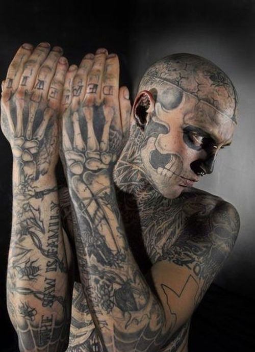 Inspiring Full Body With Extreme Tattoo For Boys