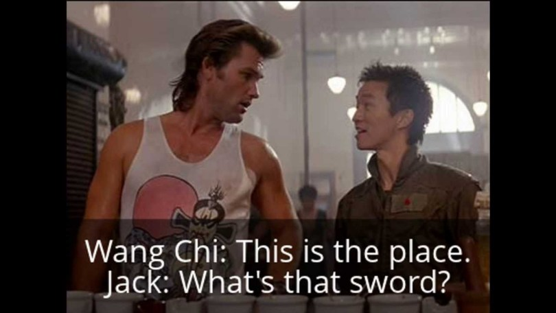 Jack Burton Quotes Wang chi this is the place jack what's that sword