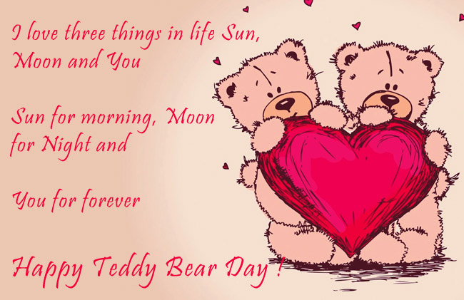 Love You Forever Happy Teddy Day Wishes Image