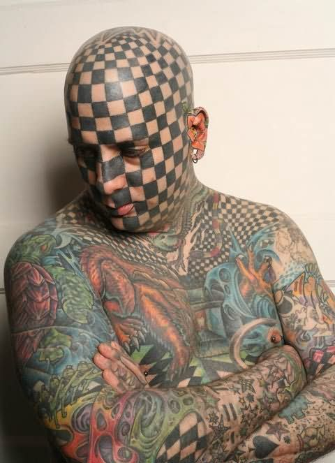 Lovely Extreme Colorful Tattoo For Full Body For Boys