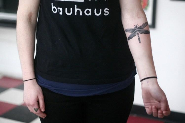 Maori Dragonfly Tattoo On Forearm For Boys