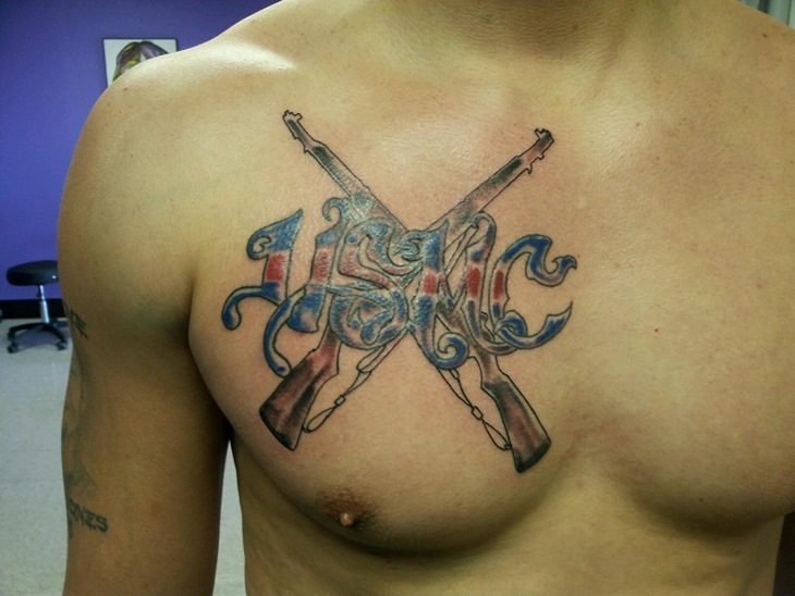 Maori Funny Tattoo On Chest For Boys