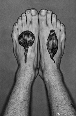 Maori Garlic Tattoo On Foot For Boys
