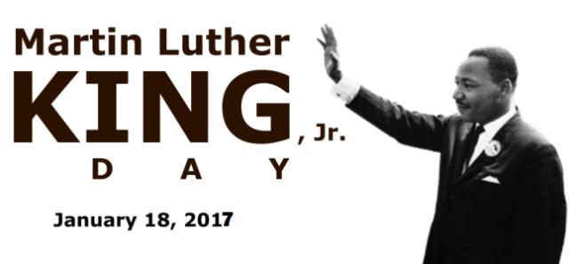 Martin Luther King Jr January 18 2017