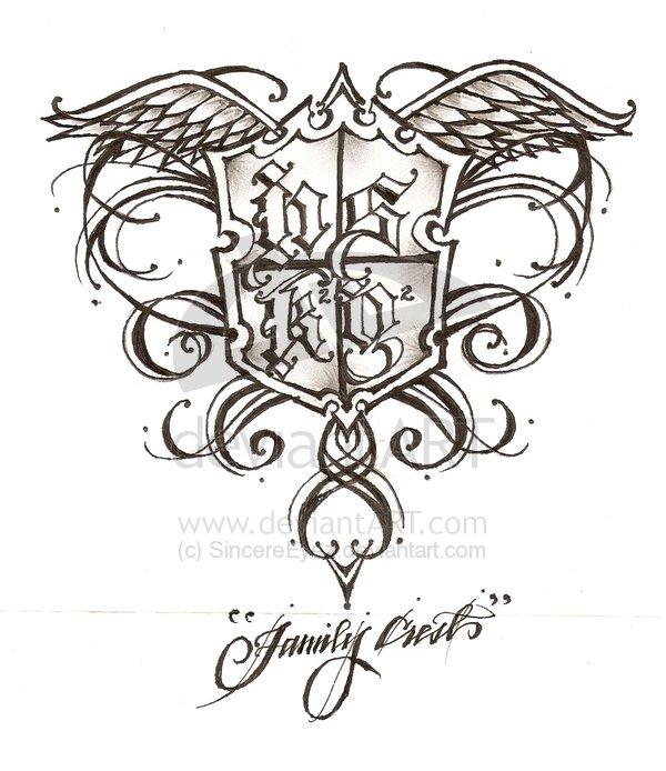 Marvel Family Crest Tattoo Design For Boys