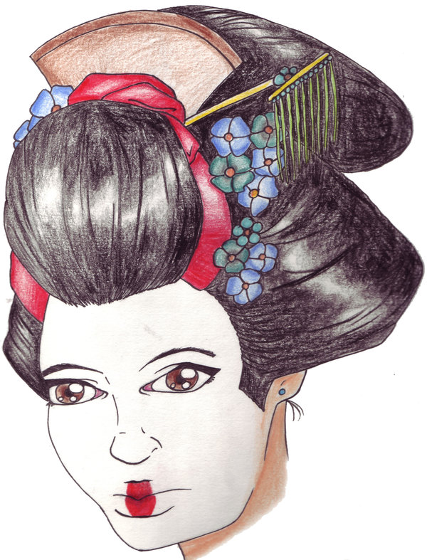 Marvel Geisha Head Tattoo Design For Boys