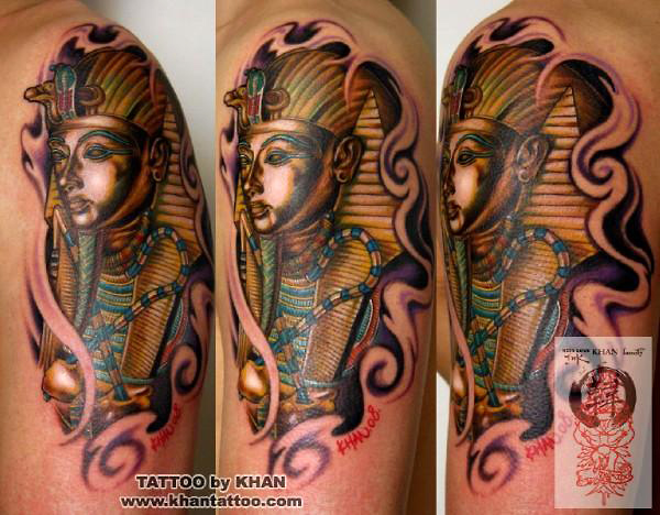 Marvelous Egyptian Tattoo Design For Girls