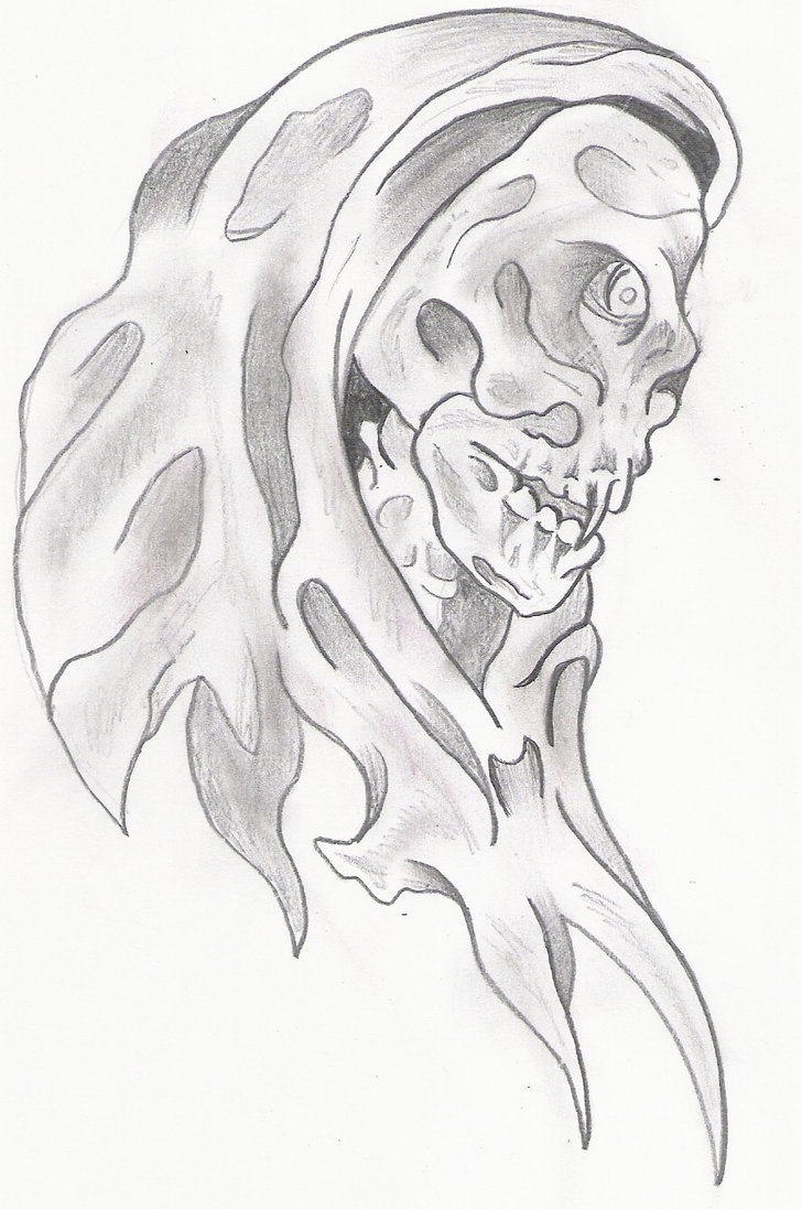 Marvelous Grim Reaper Tattoo Flash For Boys