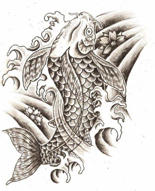 Marvelous Koi Fish Tattoo Design For Girls