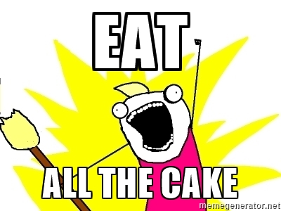 Meme Eat All The Cake Photo