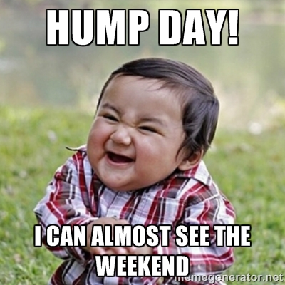 Meme Hump day I can Almost see The Weekend Photo