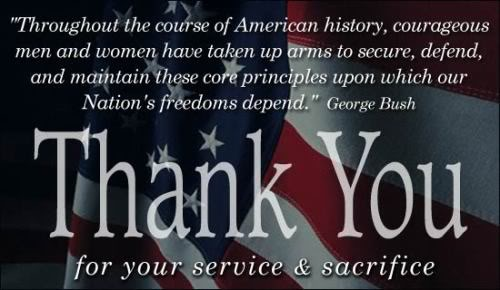 Memorial Day Thank You For Your Sacrifice