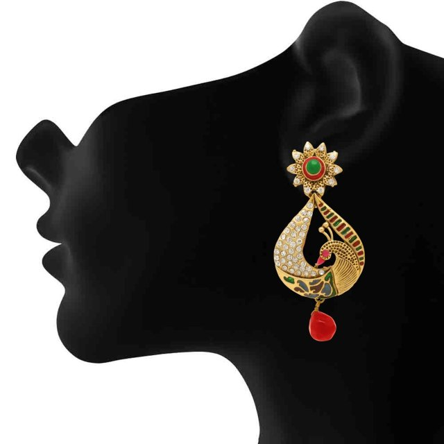 Metal Gold color Dangle & Drop Earrings For Women 02