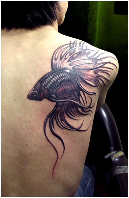 Mind Blowing Black Fish Tattoo Designs For Men On Shoulder Back For Boys