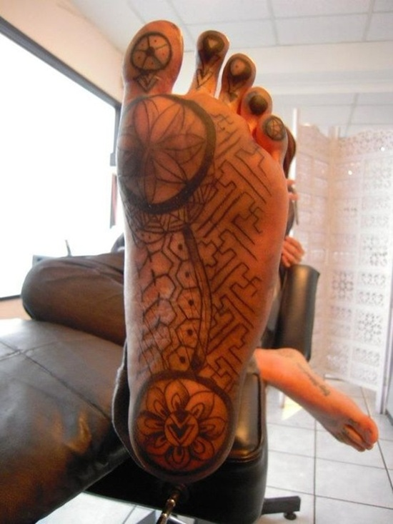 Mind Blowing Tattoo Design On Foot For Boys