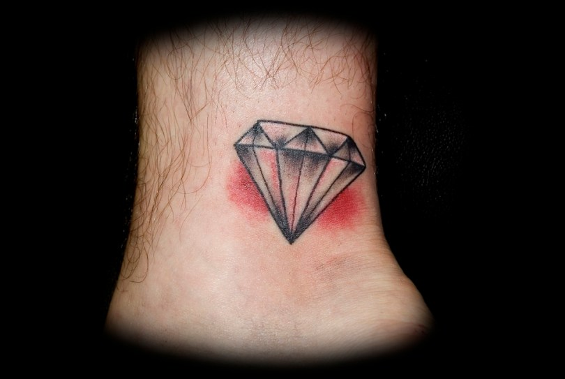 Most Beautiful Diamond Ankle Tattoo Design For Boys
