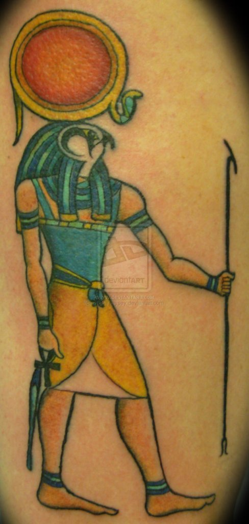 Most Beautiful Egyptian God Ra Tattoo Design For Girls