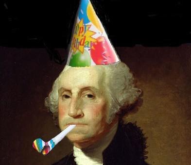 Most Funny Washington Birthday Greetings Meme Image