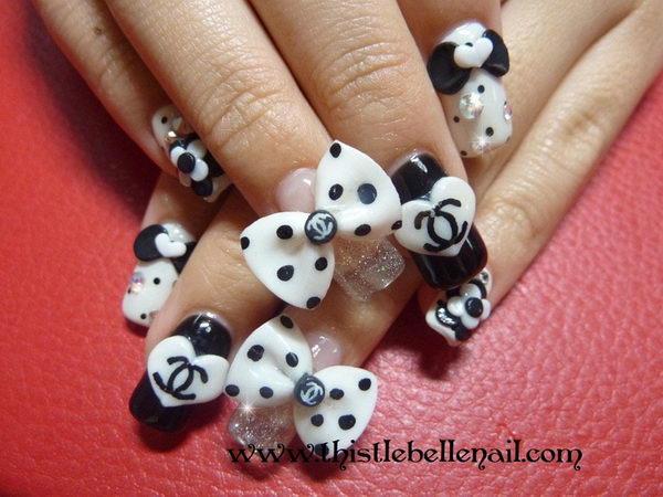 49 fabulous 3d nails art design styles ideas picsmine most trending ribbon nail art 3d rose flower nail art prinsesfo Gallery