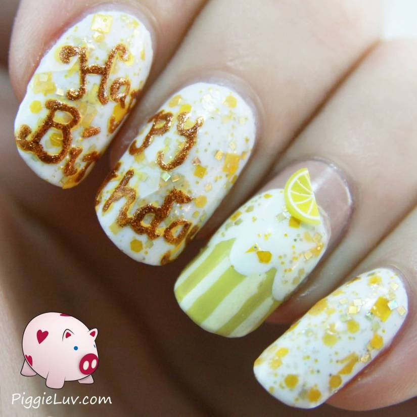 Most Wonderful Yellow Color Birthday Nails