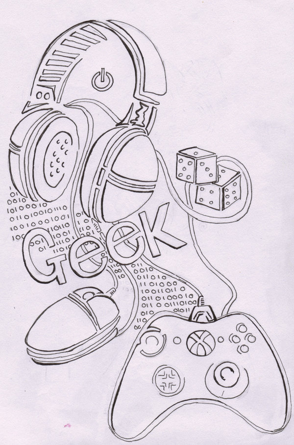 Motivational Geek Tattoo Sketch For Boys