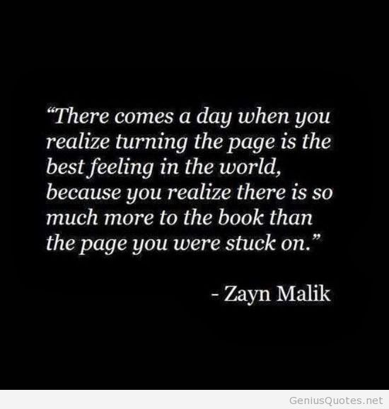 Move On saying there comes a day when you realize Turing the page is the best feeling in the world because you realize there