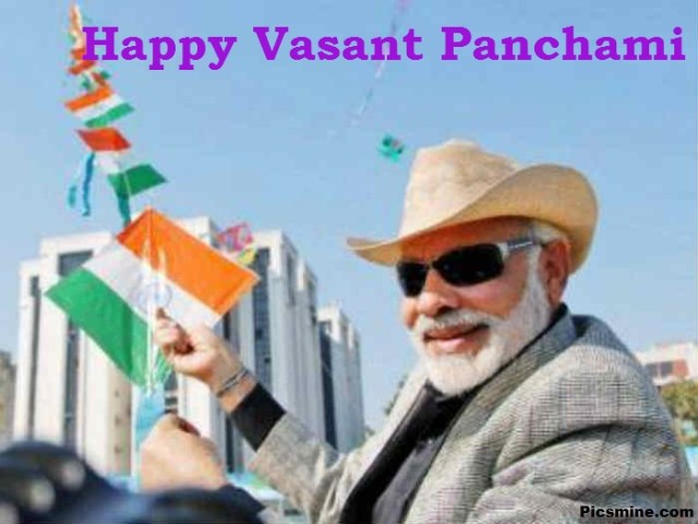 Narendra Modi kite Happy Basant Panchami Wishes Images