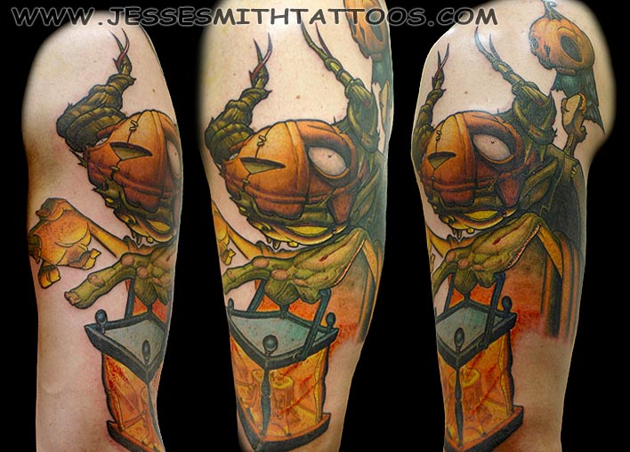 Nice Halloween Pumpkin King Tattoo Design For Boys