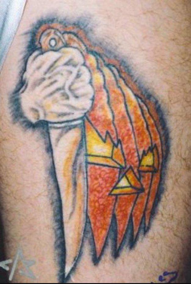 Nice Horror Knife Tattoo Design For Boys