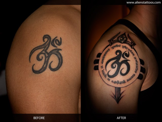 Nice Om Symbol Tattoo Designs For Boys