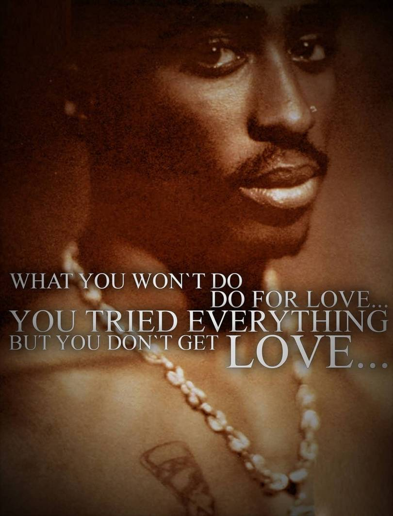 Nigga Quotes What you won't do do for love you tried everything but you don't get love