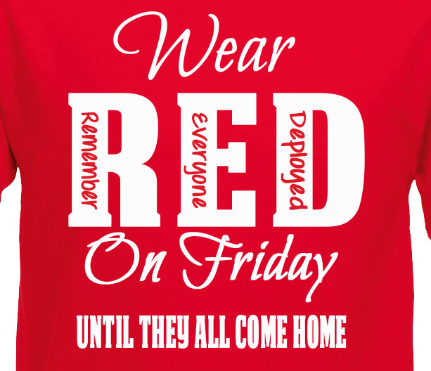 On Friday National Wear Red Day