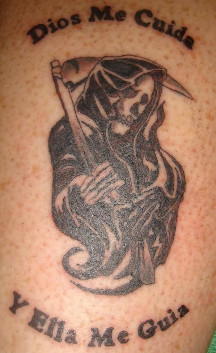 Out Standing Grim Reaper Tattoo Design For Boys