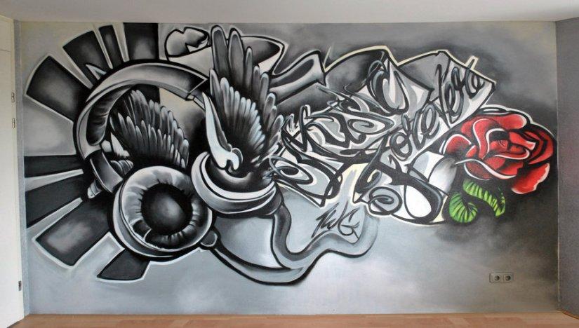 Passionate Graffiti Tattoo Design For Boys